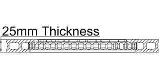 25mm Thickness