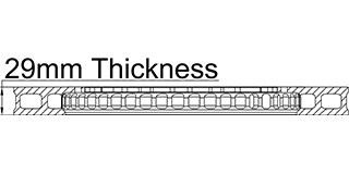 29mm Thickness