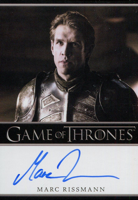 Game Of Thrones Complete BD Autograph Card Marc Rissmann as Captain Harry Strickland