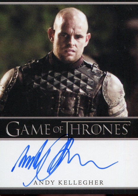 Game Of Thrones Complete BD Autograph Card Andy Kellegher as Polliver