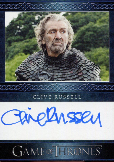 Game Of Thrones Complete Blue Autograph Card Clive Russell as Ser Brynden Tully