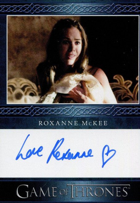 Game Of Thrones Complete Blue Autograph Card Roxanne McKee as Doreah