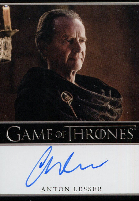Game Of Thrones Complete BD Autograph Card Anton Lesser as Qyburn