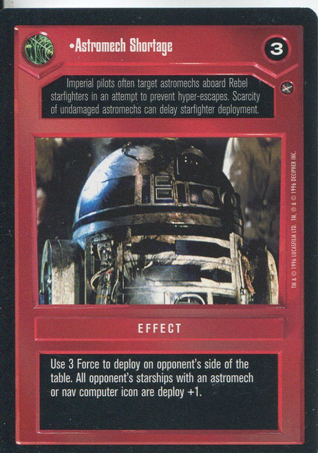 Star Wars CCG A New Hope Limited BB Astromech Shortage