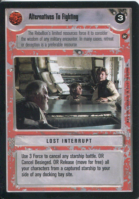 Star Wars CCG A New Hope Limited BB Alternatives To Fighting