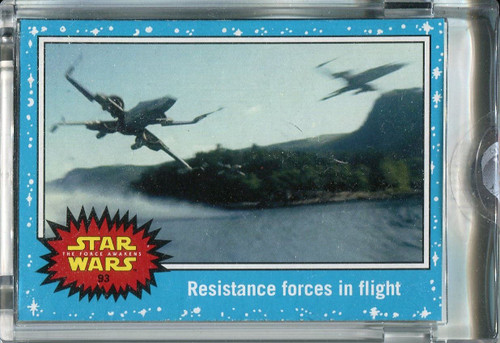 Star Wars Journey To The Force Awakens Topps 1/1 Vault Blank Back Base Card #93