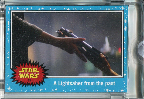 Star Wars Journey To The Force Awakens Topps 1/1 Vault Blank Back Base Card #92