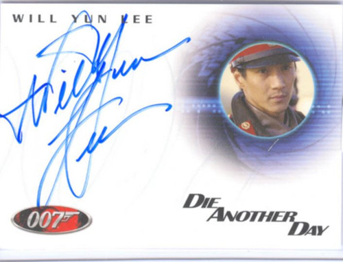 James Bond Quotable 40th Ann. Autograph A36 Will Yun Lee as Colonel Moon