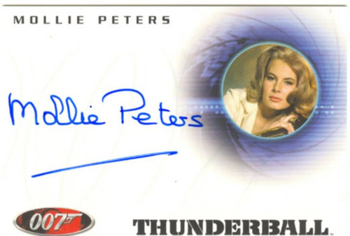 James Bond Quotable 40th Ann. Autograph A33 Mollie Peters as Patricia Fearing