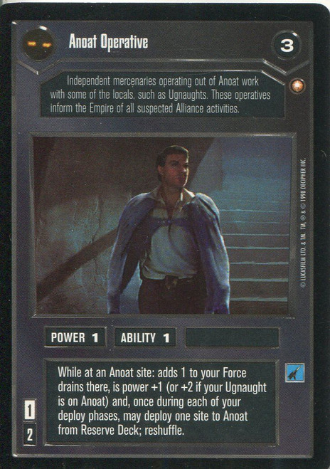 Star Wars CCG Special Edition Anoat Operative DS