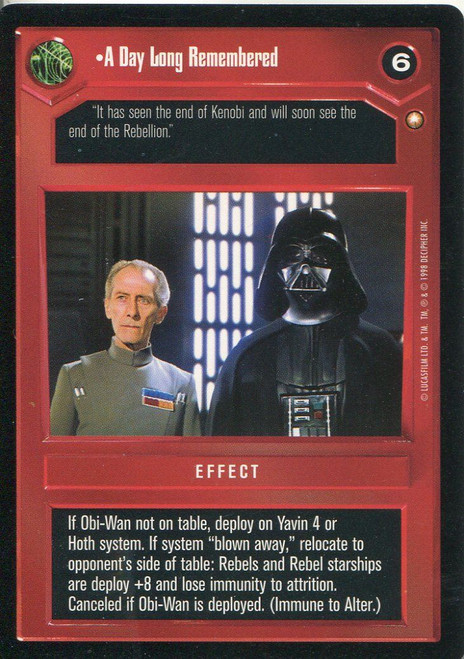 Star Wars CCG Special Edition A Day Long Rembered