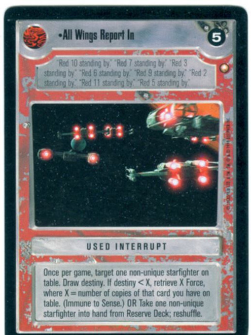 Star Wars CCG Special Edition All Wings Report In