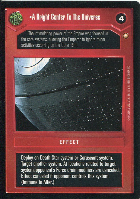 Star Wars CCG Special Edition A Bright Centre To The Universe