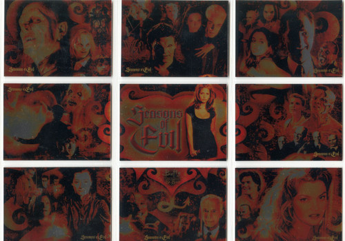 Buffy TVS Big Bads Complete Seasons Of Evil Chase Card Set SE1-9