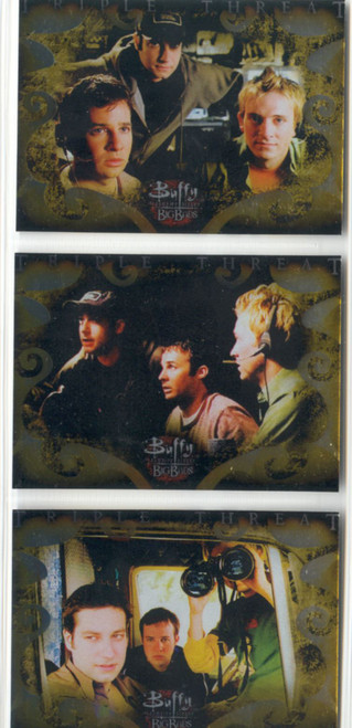 Buffy TVS Big Bads Complete Triple Threat Boxloader Chase Card Set BL1-3