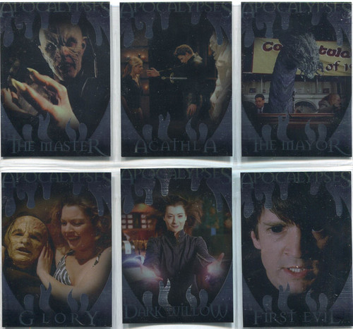 Buffy TVS Memories Complete Apocalypses Chase Card Set AP1-6