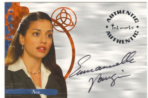 Charmed Power Of The Three Autograph Card A15 Emmanuelle Vaugier