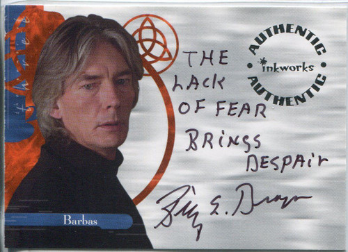 Charmed Power Of The Three Autograph Card A11 Billy Drago [Variant 2]