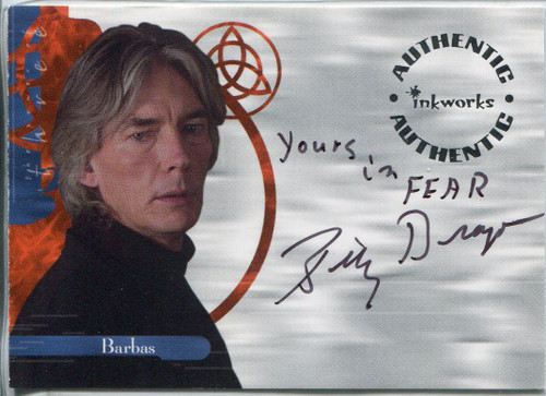 Charmed Power Of The Three Autograph Card A11 Billy Drago [Variant 3]