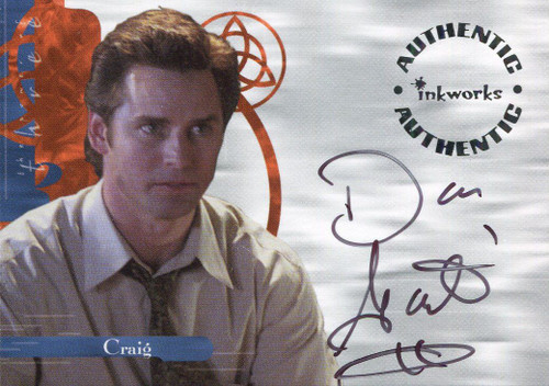 Charmed Power Of The Three Autograph Card A12 Dan Gauthier
