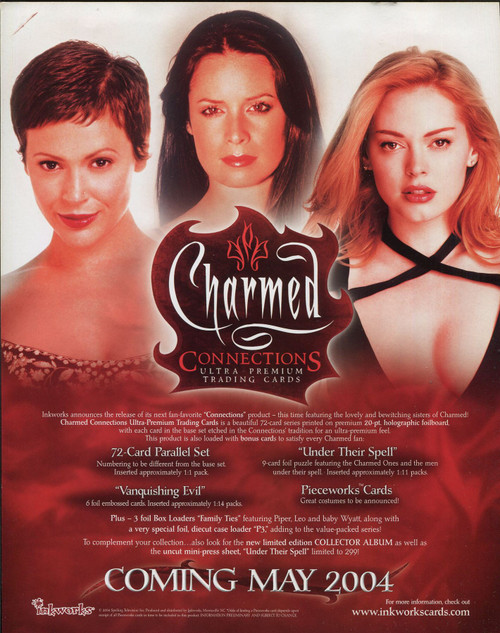 Charmed Connections Official Inkworks Sellsheet Sell Sheet