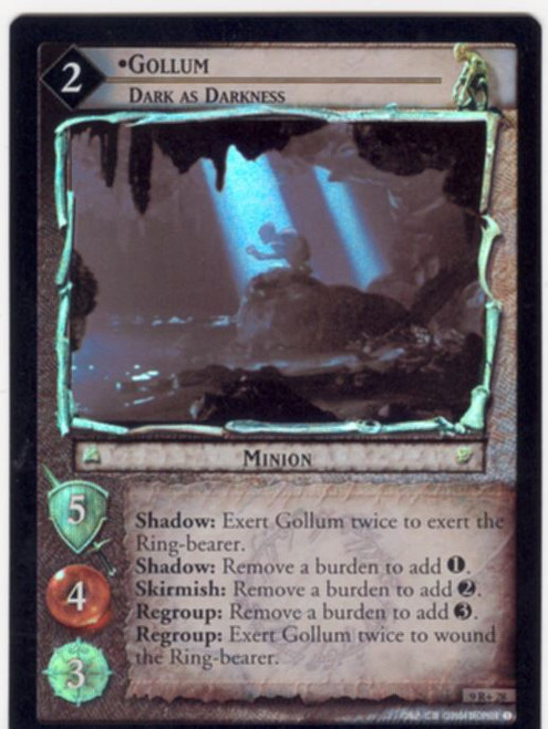 Lord Of The Rings CCG Reflections Foil Card  9R+28 Gollum Dark As Darkness