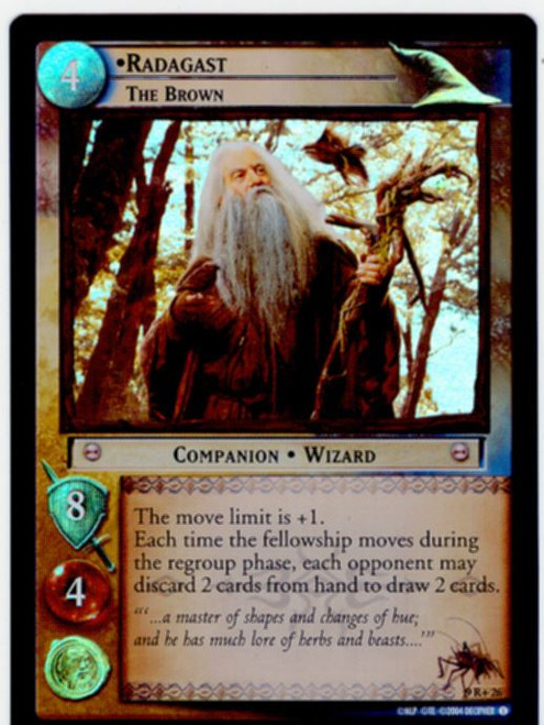 Lord Of The Rings CCG Reflections Foil Card  9R+26 Radagast The Brown