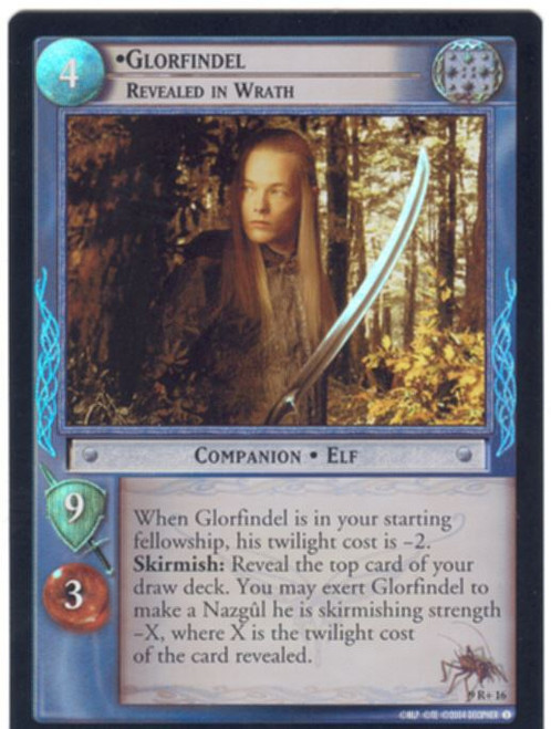 Lord Of The Rings CCG Reflections Foil Card  9R+16 Glorfindel Revealed In Wrath