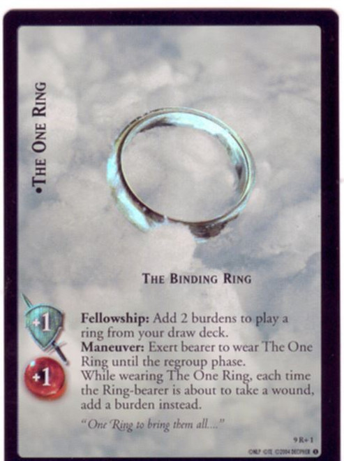 Lord Of The Rings CCG Reflections Foil Card  9R+1 The One Ring The Binding Ring