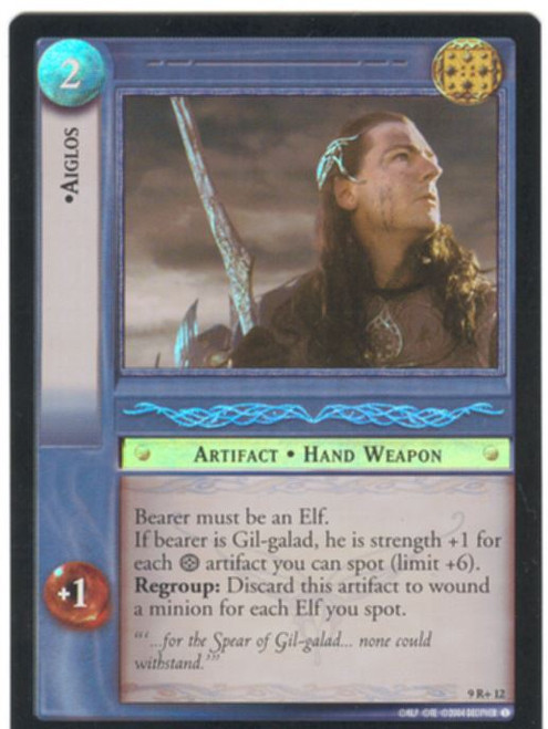 Lord Of The Rings CCG Reflections Foil Card  9R+12 Aiglos
