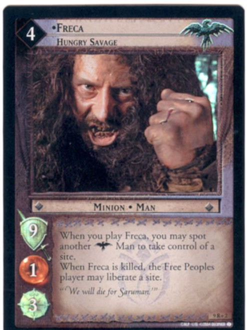 Lord Of The Rings CCG Reflections Foil Card  9R+2 Freca Hungry Savage