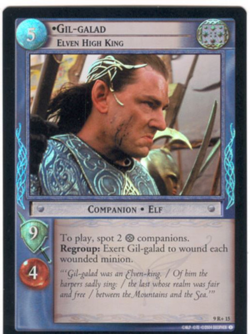 Lord Of The Rings CCG Reflections Foil Card  9R+15 Gil Galad Elven High King