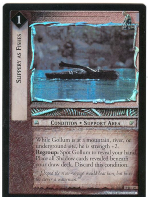 Lord Of The Rings CCG Reflections Foil Card  9R+29 Slippery As Fishes