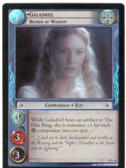 Lord Of The Rings CCG Reflections Foil Card  9R+14 Galadriel Bearer Of Wisdom
