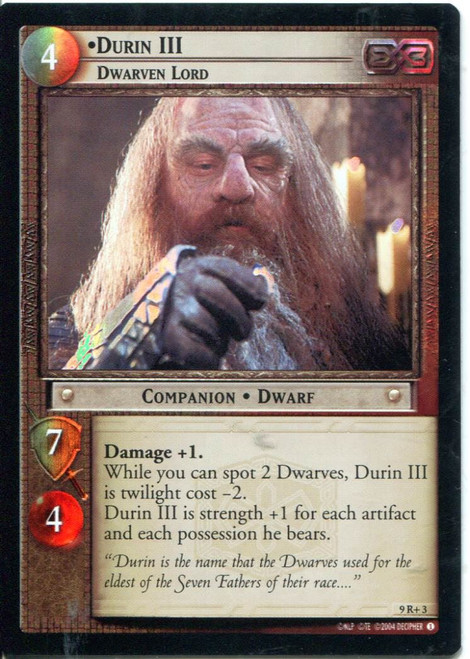 Lord Of The Rings CCG Reflections Foil Card  9R+3 Durin III Dwarven Lord