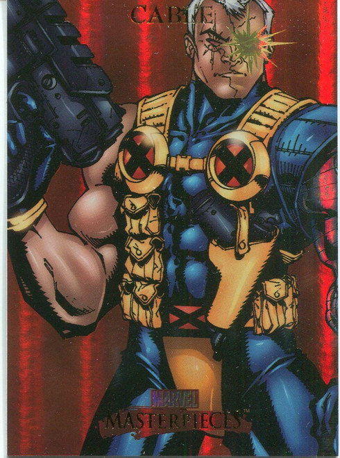 Marvel Masterpieces 2007 Fleer Foil Parallel Base Card #15 Cable