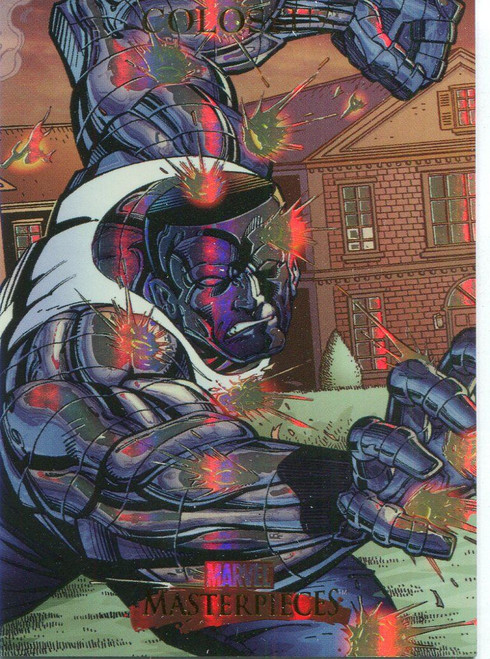 Marvel Masterpieces 2007 Fleer Foil Parallel Base Card #19 Colossus