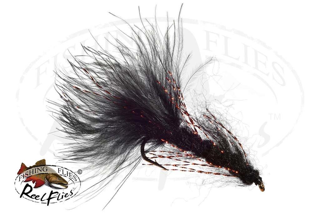 Mohair Leech Black - Copper