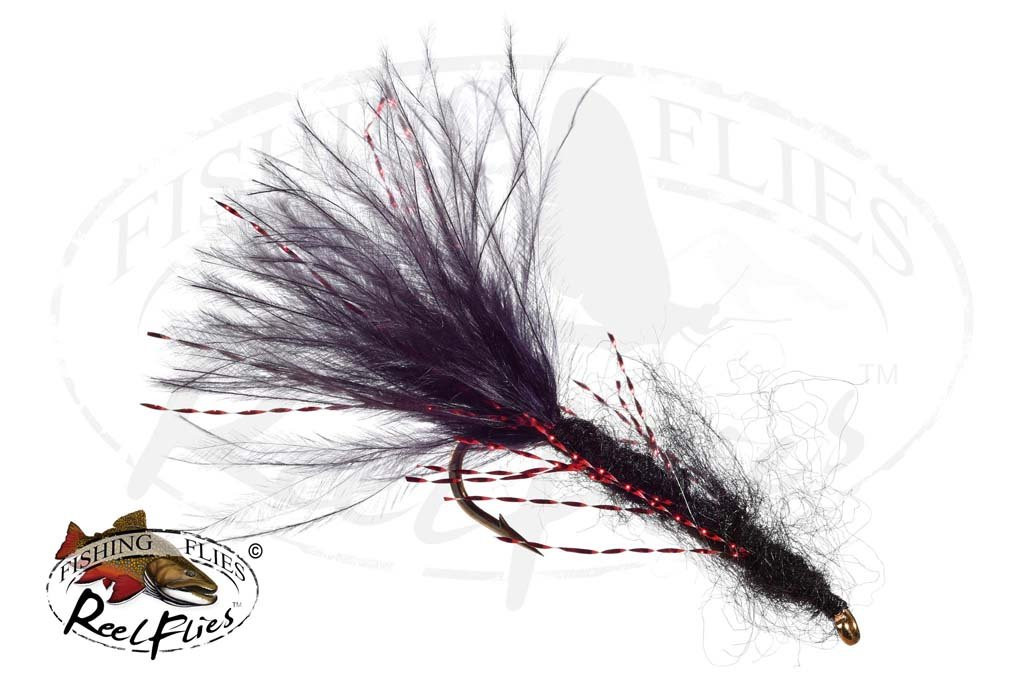 Mohair Leech Black - Red