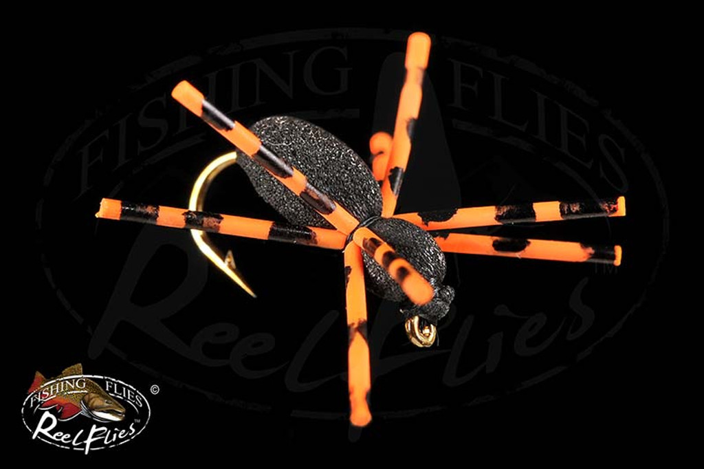 Black Beetle Orange Black Rubber Legs