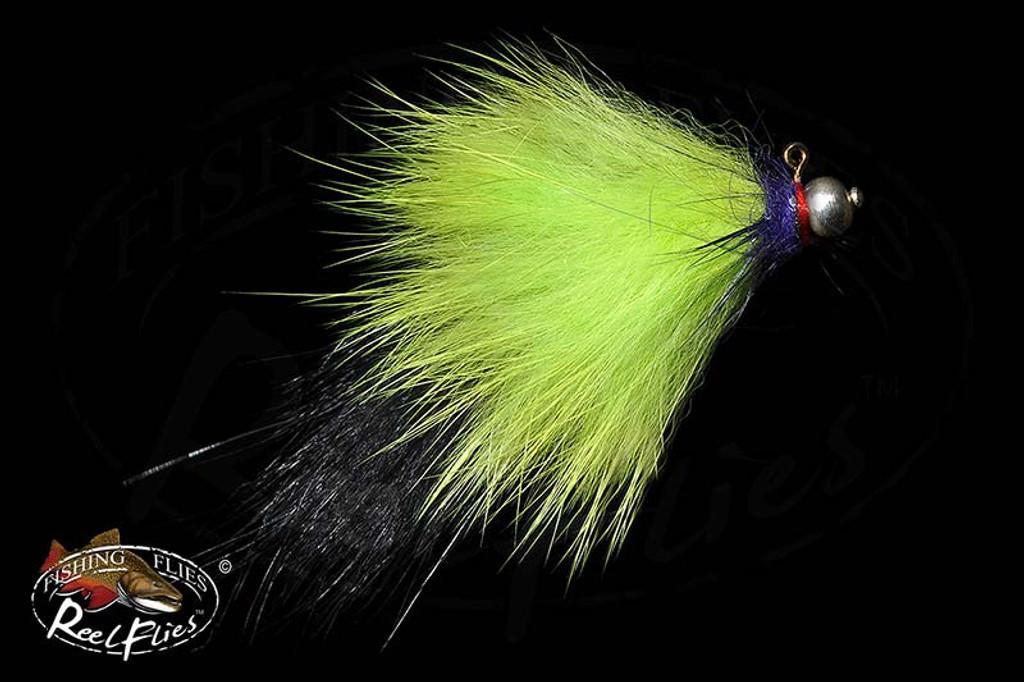 Jig Head Black Chartreuse