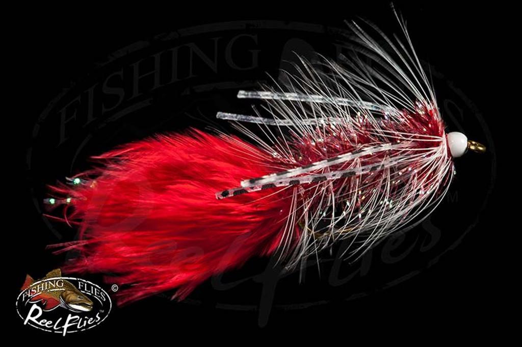 Red White Rubber Legged Bugger