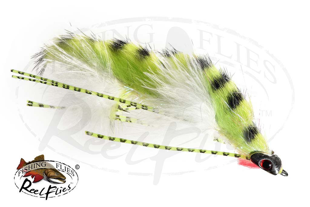 Chartreuse Tiger Articulated Baitfish