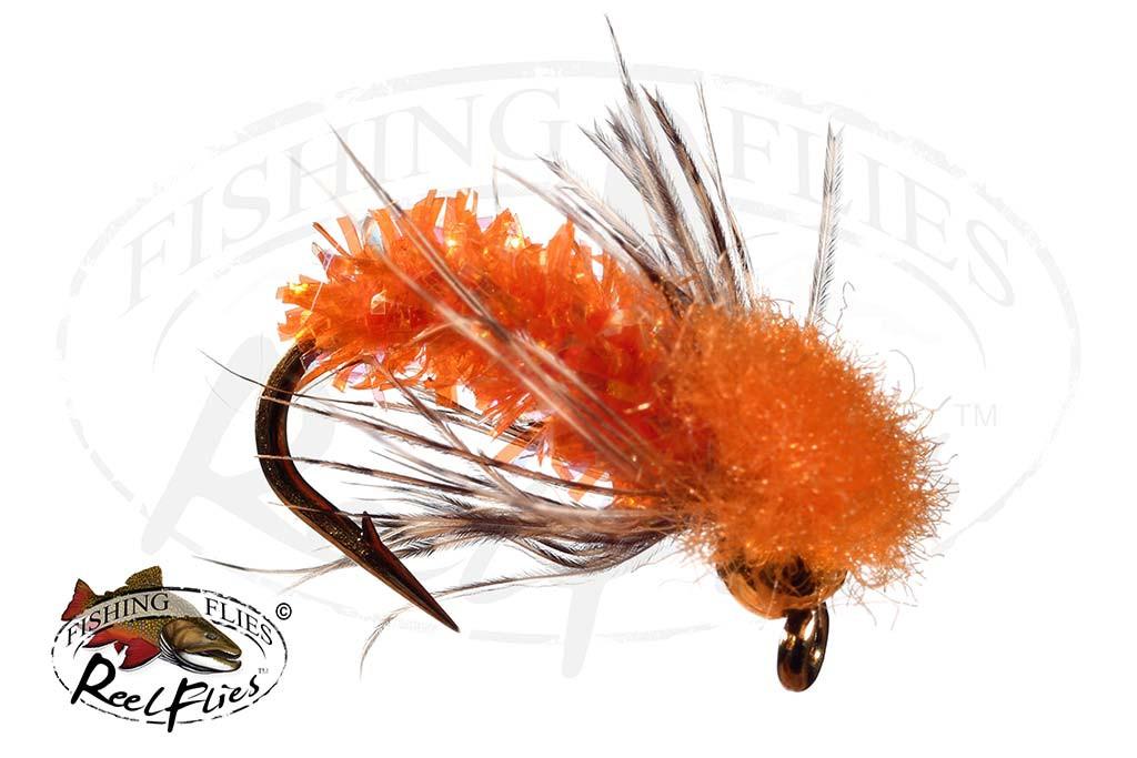 BH ReelFlies™ Orange Caddis Fly