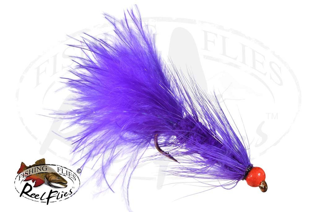 Egg Sucking Leech Purple-Orange Epoxi