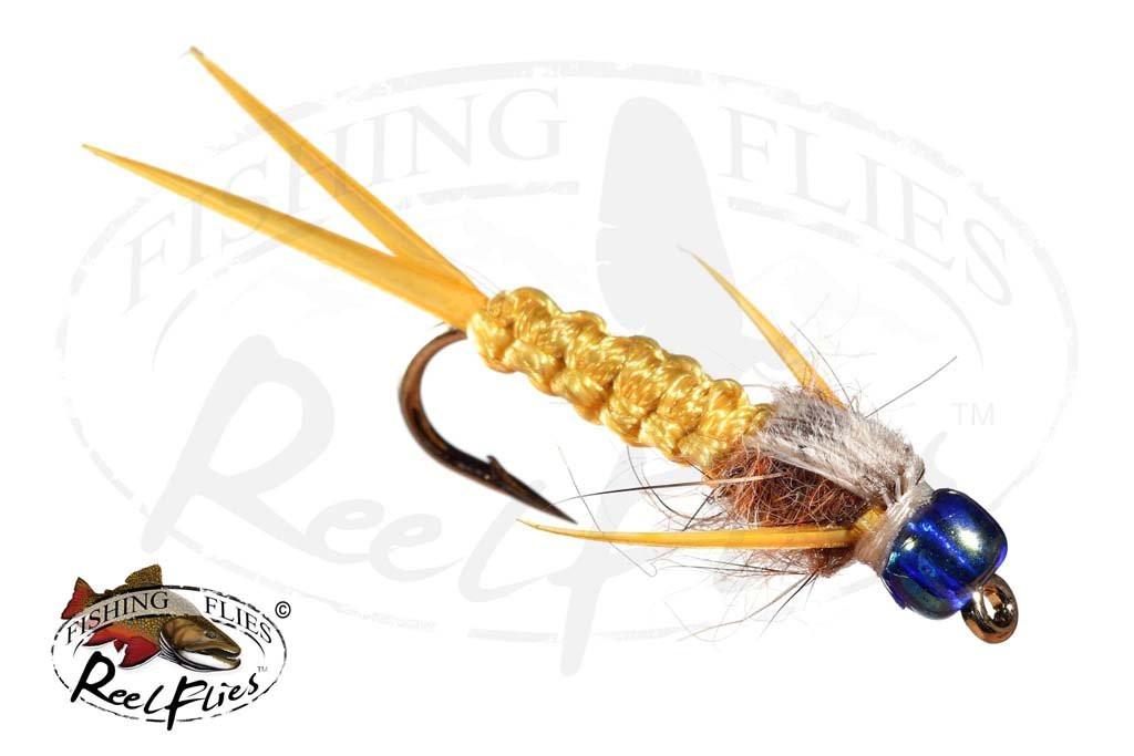 Rainbow Head Rh Amber Woven Stonefly