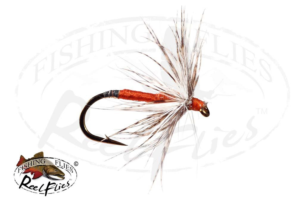 Soft Hackle Orange Silver Tip
