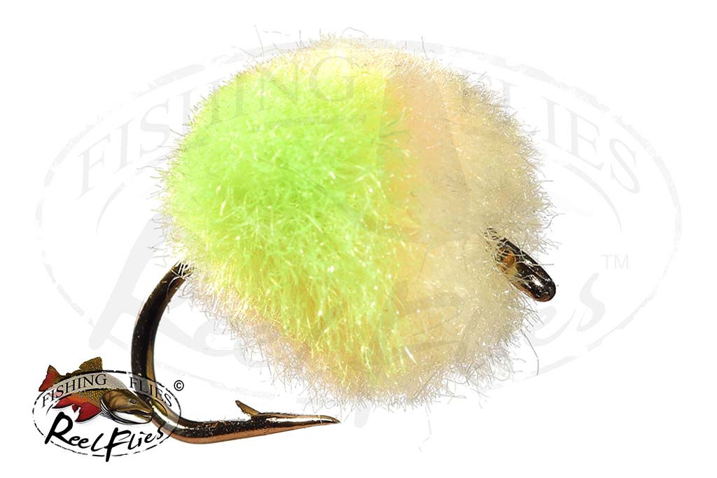 Glo Bug Half & Half Chartreuse & Tan