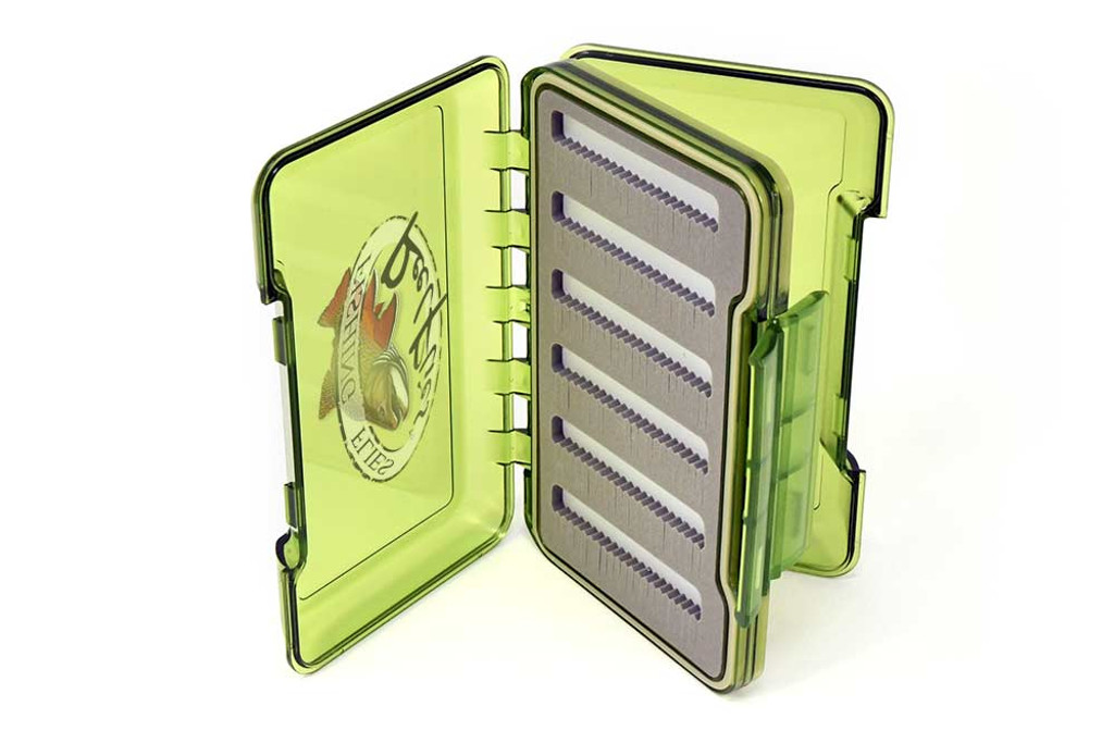 reelflies olive transparent fly box