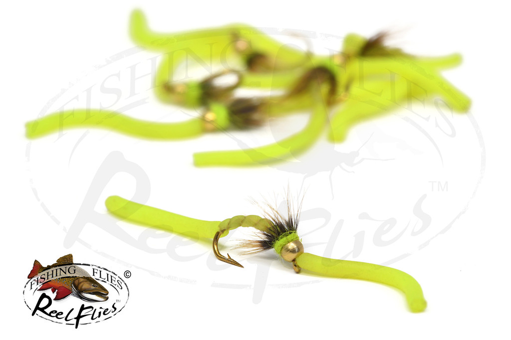Psycho Squirmy Worm Chartreuse